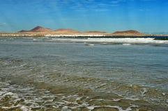 Famara Strand, Lanzarote, Kanarische Inseln, Spanien Lizenzfreies Stockbild