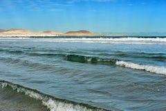 Famara Strand, Lanzarote, Kanarische Inseln, Spanien Stockbilder
