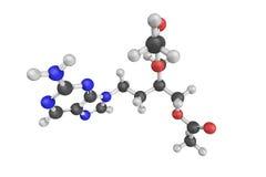 Famciclovir ist eine Guanosinanaloge Antivirendroge, die für benutzt wird Lizenzfreie Stockfotos