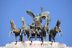 Fame driving the quadriga Royalty Free Stock Photography