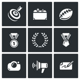 Fame and glory icons set. Vector Illustration. Royalty Free Stock Photos