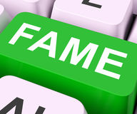 Fame Keys Mean Renowned Or Popular Stock Images