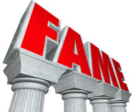 Fame Marble Columns Popularity Famous Celebrity Royalty Free Stock Photo