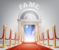 Fame Red Carpet Door Royalty Free Stock Photos