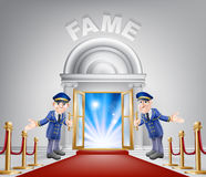Fame Red Carpet Entrance Stock Photo