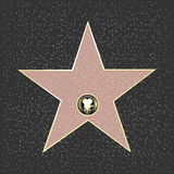 Fame Star. Walk Of Fame Type Star, Vector Illustration Royalty Free Stock Photo