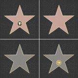 Fame Stars. 4 Walk Of Fame Type Star, Vector Illustration Royalty Free Stock Image