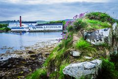 The Lagavulin Distillery. The famed Lagavulin Distillery on the Isle of Islay, Scotland stock photography