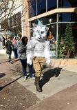 A Person in an Furry Animal Suit in Savannah, Georgia Celebrates Martin Luther King Jr. with 39th Annual Parade. The famed Martin Luther King Jr. Observance Day Stock Photography