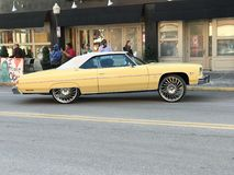 A Yellow Low Rider in Savannah, Georgia Celebrates Martin Luther King Jr. with 39th Annual Parade. The famed Martin Luther King Jr. Observance Day Association stock photo