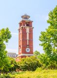 Troy University Montgomery Torch Tower. Famed Troy University Montgomery Torch Tower in Curry Commons in downtown Montgomery, Alabama stock photography