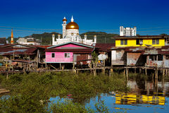 Famed water village of Brunei's capital city Royalty Free Stock Photography