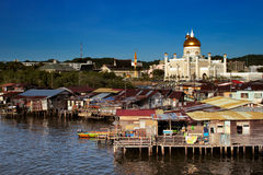 Famed water village of Brunei's capital city Royalty Free Stock Photo
