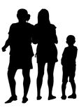 Famely whit kid two Stock Image
