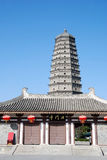 Famen Temple Pagoda in Xian Stock Image