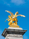 Fames golden statue Royalty Free Stock Images