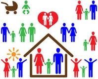 Famiglia 2 Immagini Stock Libere da Diritti