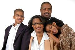 Famiglia in abbigliamento convenzionale Immagini Stock Libere da Diritti