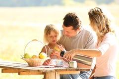 Famiglia al picnic Fotografia Stock
