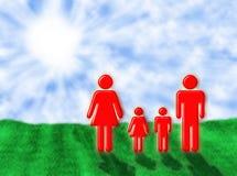 Famiglia al sole Fotografie Stock