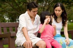 Famiglia all'aperto Fotografie Stock
