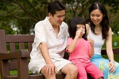 Famiglia all'aperto Immagine Stock