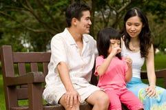 Famiglia all'aperto Fotografie Stock Libere da Diritti