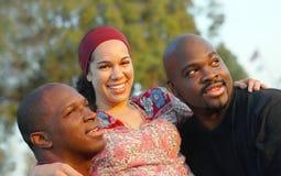 Famiglia all'esterno Fotografie Stock Libere da Diritti