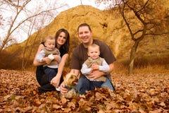 Famiglia alla sosta Fotografia Stock
