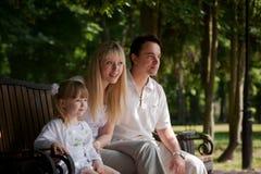Famiglia alla sosta Fotografia Stock Libera da Diritti