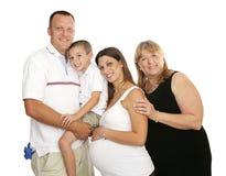 Famiglia allargata amorosa fotografie stock