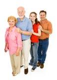 Famiglia allargata felice Fotografia Stock Libera da Diritti