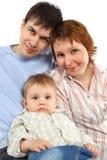 Famiglia allegra casuale - genitore e figlio fotografie stock