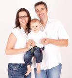 Famiglia allegra e felice Fotografia Stock
