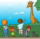 Famiglia allo zoo Fotografia Stock Libera da Diritti