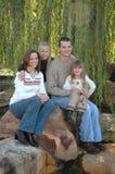 Famiglia americana fotografie stock libere da diritti