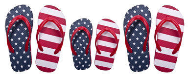 Famiglia americana patriottica Immagine Stock