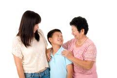 Famiglia asiatica Fotografia Stock