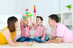 Famiglia asiatica Fotografie Stock