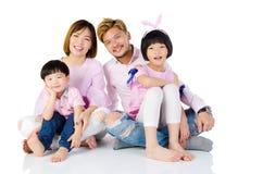 Famiglia asiatica Fotografie Stock Libere da Diritti