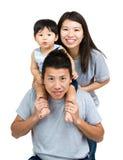 Famiglia asiatica felice fotografia stock libera da diritti