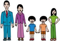 Famiglia asiatica moderna Fotografia Stock Libera da Diritti