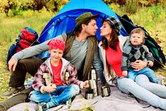 Famiglia attiva fotografia stock libera da diritti