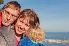 Famiglia a Barcellona Fotografie Stock