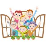 Famiglia in buona salute Fotografia Stock Libera da Diritti