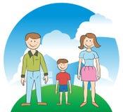 Famiglia - Camera Immagine Stock