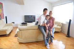 Famiglia a casa Fotografia Stock