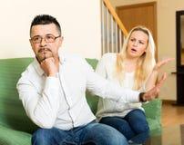 Famiglia casuale che ha litigio Fotografie Stock Libere da Diritti