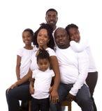 Famiglia casuale nera Immagine Stock Libera da Diritti