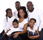 Famiglia casuale nera Fotografia Stock